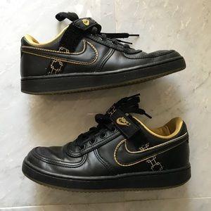 Black & Gold Nike Dunks Shoes